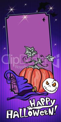 Halloween Banner violet