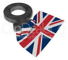 venus symbol und flagge von großbritannien