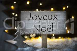 White Tree, Joyeux Noel Means Merry Christmas