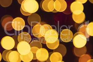 Golden Retro Lights Background, Disco, Celebration Or Christmas Texture