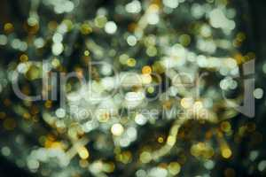 Glowing Green Lights Background, Party, Celebration Or Christmas Texture