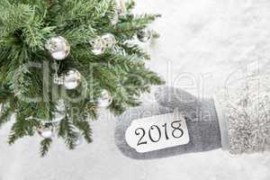 Christmas Tree, Glove, Text 2018