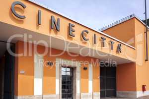 Entrance of Cinecitta Studios in Rome