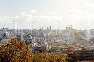 Rome View from Gianicolo Hill
