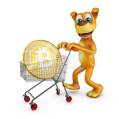 dog with bitcoin