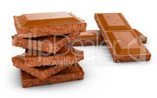 pieces of a chocolate