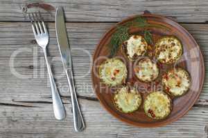 fried zucchini and eggplant
