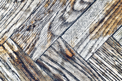 Background texture of old shabby wooden parquet