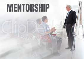 Mentorship text and Business economics teacher with class