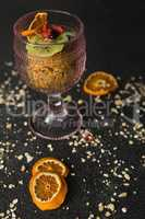 Dried fruits in glass