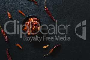 Chili pepper in bowl