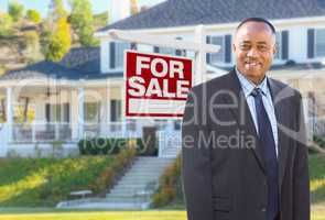 African American Agent In Front of Beautiful Custom House and Fo