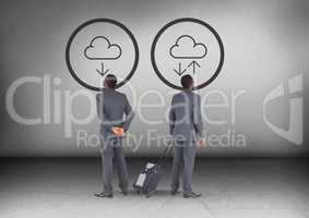 Download or upload icons with Businessman looking in opposite directions