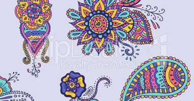 Diwali Designs background, wide