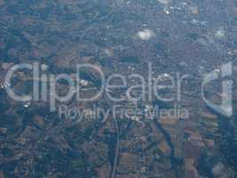 Aerial view of Asti