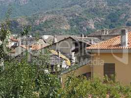 View of Settimo Vittone old city centre in Quincinetto