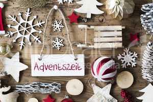 Rustic Christmas Flat Lay, Adventszeit Means Advent Season
