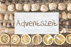 Christmas Food Flat Lay, Adventszeit Means Advent Season, Snowflakes