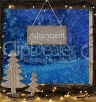 Window, Winter Forest, Adventszeit Means Advent Season