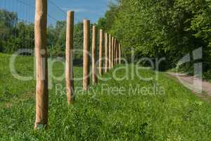 Fence of a pasture