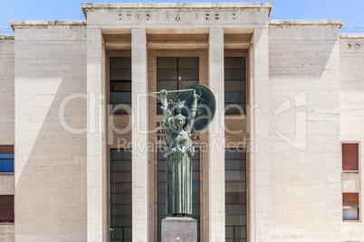 statue of Minerva in Sapienza University, Rome