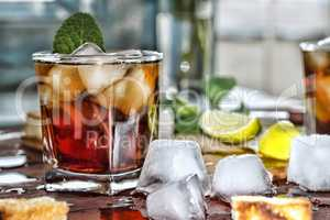 Rum refreshment alcoholic drink