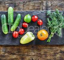 Vegetarian food. Fresh vegetables.
