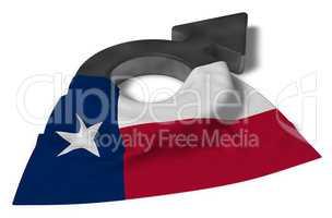marssymbol und flagge von chile
