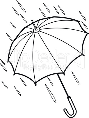 Contour of the umbrella