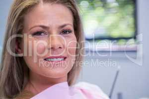 Portrait of woman at dental clinic