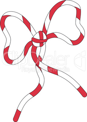 Red white bow knot