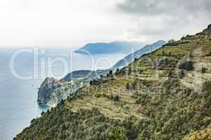 CinqueTerre, world cultural heritage on the Italian Mediterranean coast