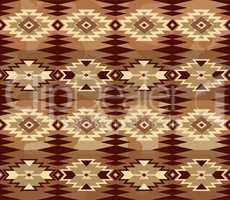 Abstract geometric seamless pattern with aztec ornament. Ethnic