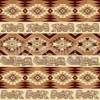 Abstract geometric seamless pattern Aztec traditional ornament