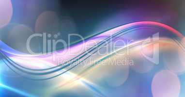 Abstract transition with flowing colorful curves