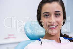 Portrait of patient smiling at dental clinic