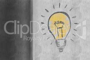 Composite image of light bulb