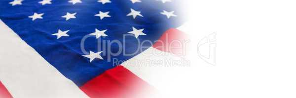 Full frame of wrinkled American flag