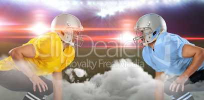 Digital composite image of playing field