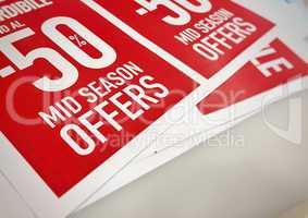 50% off Mid season sales