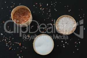 Various salt in bowl