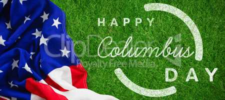 Composite image of wish for colombus day