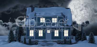 Moon lighting house