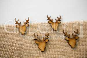 Christmas decoration on a textile