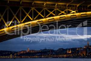 Budapest, capital of Hungary, night panorama.