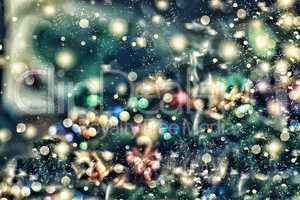 Christmas background, Christmas. Magical fairy background. Bokeh blur blurred. Abstract background.
