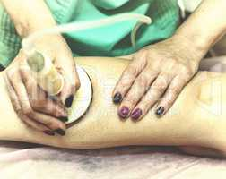 Anti-cellulite massage. Spa.