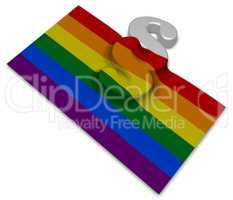 paragraph symbol und gay pride flagge