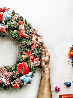 Christmas wreath.  New Year. Christmas holiday.