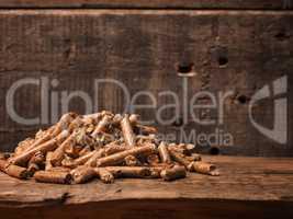 Wooden pelets, ecology concept
